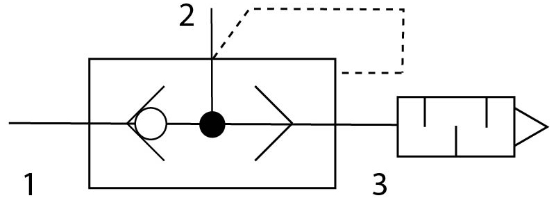 Клапан быстрого выхлопа Festo 547531 VBQF-U-G18-E пневмосхема