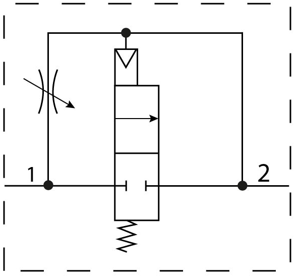 Клапан плавного пуска Festo 529817 MS6-DL-1/2 пневмосхема