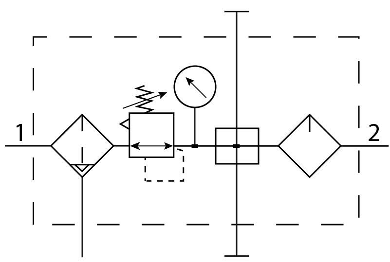 Блок подготовки воздуха Festo 185794 FRC-1/4-D-MINI-KA-A пневмосхема