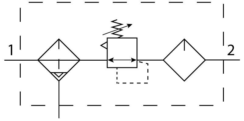 Блок подготовки воздуха Festo 194875 FRCS-1/4-D-5M-O-MINI-A пневмосхема
