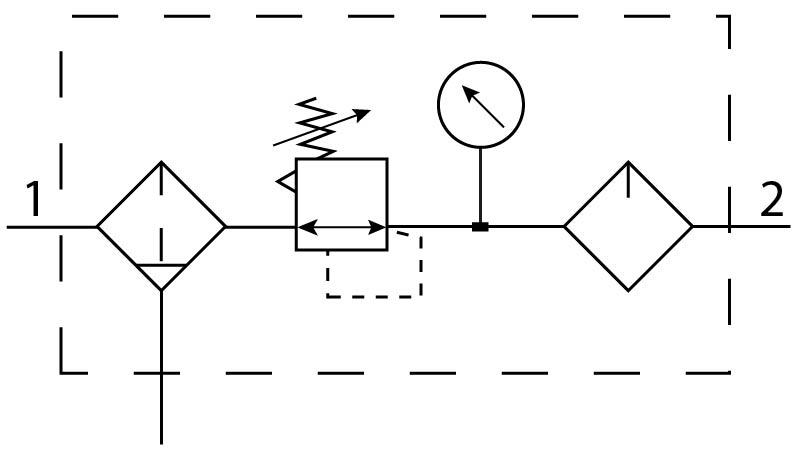 Блок подготовки воздуха Festo 194892 FRCS-1/4-D-7-MIDI пневмосхема