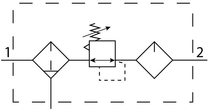 Блок подготовки воздуха Festo 194909 FRCS-3/8-D-5M-O-MIDI пневмосхема