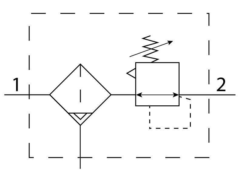 Фильтр-регулятор давления Festo 194743 LFRS-1/4-D-5M-O-MIDI-A пневмосхема