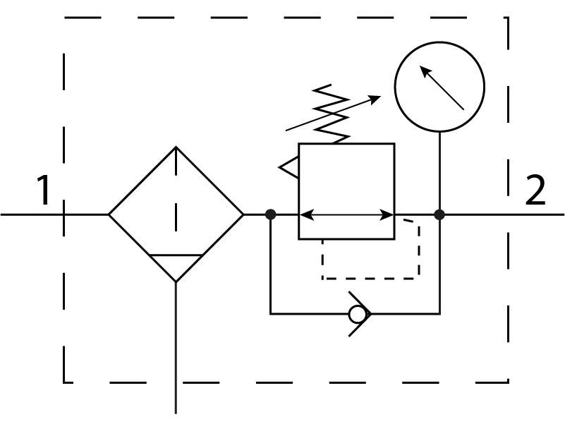 Фильтр-регулятор давления Festo 529168 MS4-LFR-1/8-D7-CRM-AS пневмосхема