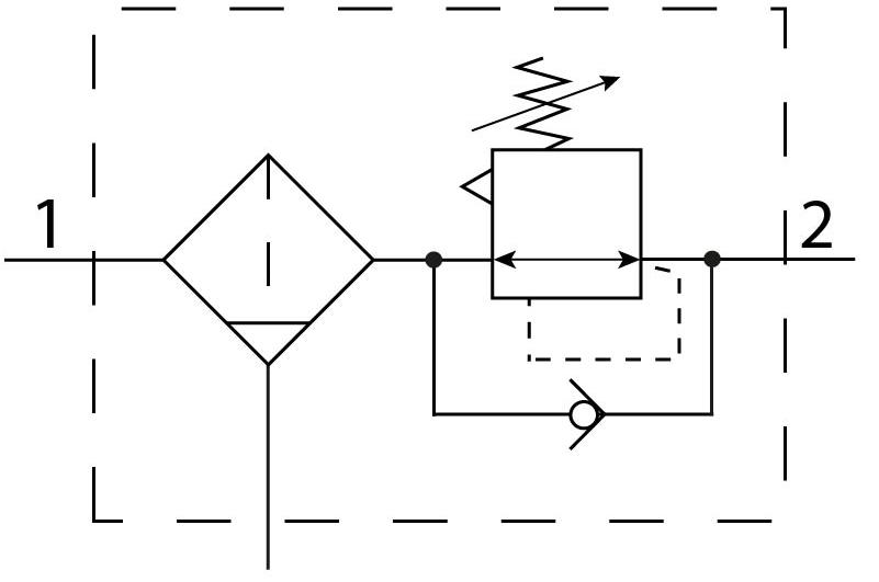 Фильтр-регулятор давления Festo 194827 LFRS-3/4-D-7-O-DI-MAXI пневмосхема