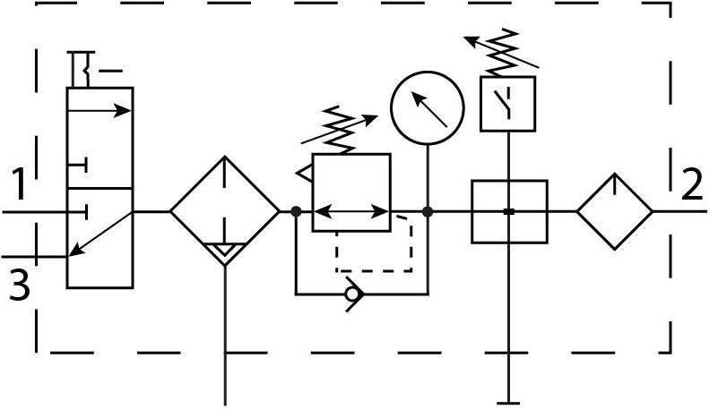 Блок подготовки воздуха Festo 192485 FRC-3/4-D-DI-MAXI-KC-A пневмосхема