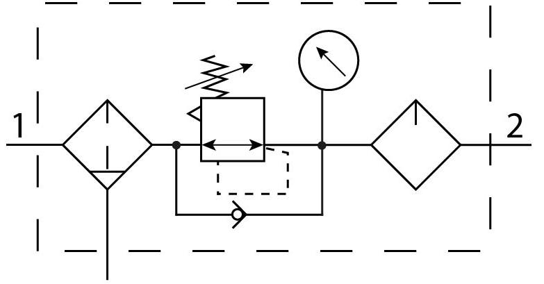 Блок подготовки воздуха Festo 192420 FRC-1-D-7-DI-MAXI пневмосхема