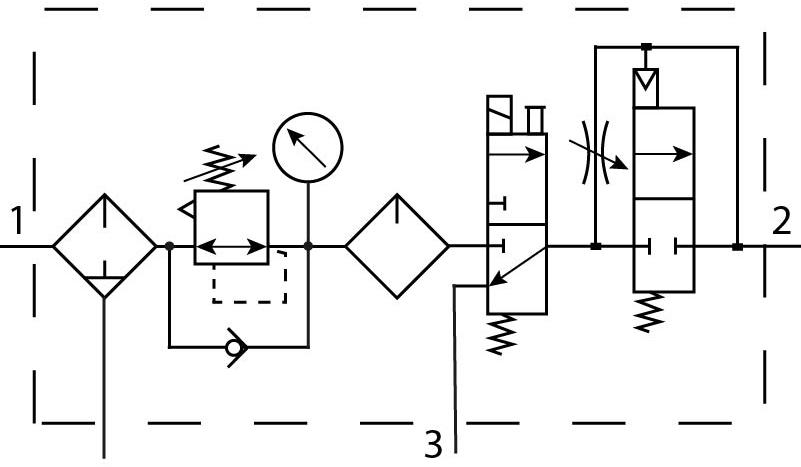 Блок подготовки воздуха Festo 192471 FRC-1/2-D-DI-MAXI-KE пневмосхема