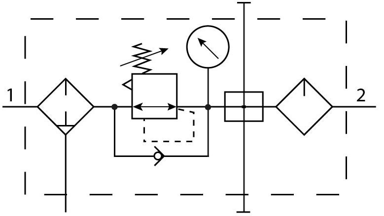 Блок подготовки воздуха Festo 192468 FRC-1/2-D-DI-MAXI-KA пневмосхема
