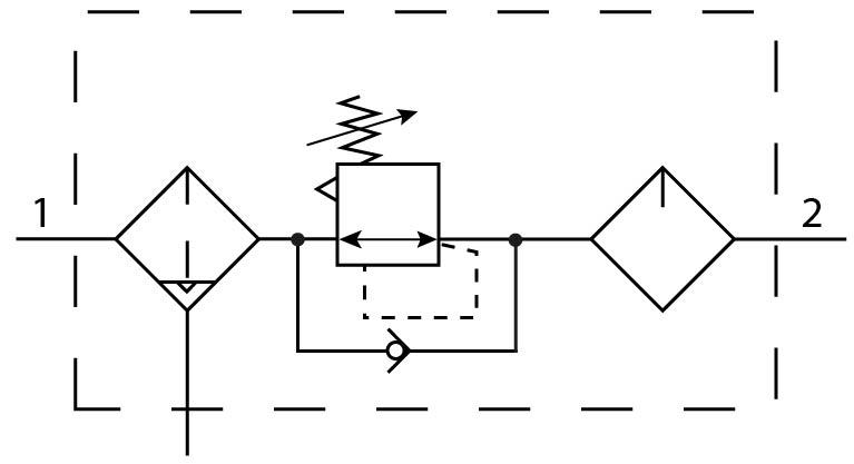 Блок подготовки воздуха Festo 186509 FRC-1/2-D-O-MAXI-A пневмосхема