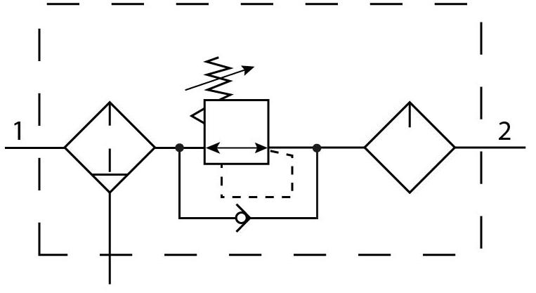 Блок подготовки воздуха Festo 159607 FRC-1-D-MAXI пневмосхема