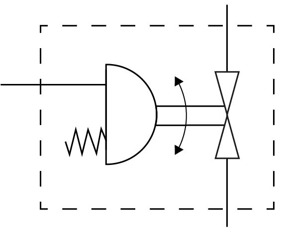 Шаровой кран с приводом Festo 1915409 VZBC-80-FF-16-22-F07-V4V4T-PS180-R-90-4-C DN80 PN16 пневмосхема