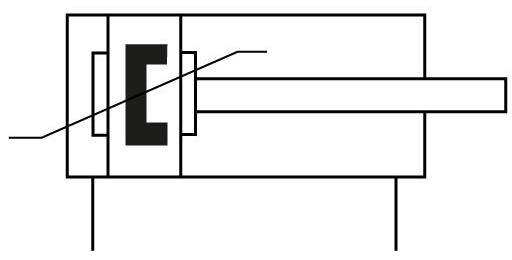 Стандартный цилиндр Festo 1383638 DSBC-63-160-PPSA-N3 пневмосхема