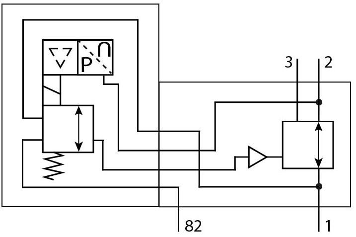 Электрический регулятор давления Festo 1709137 PREL-90-HP3-V1-A-40CFX-S1-5 пневмосхема