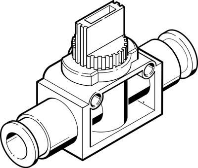 Отсечной клапан Festo HE-2-QS-1/4-U