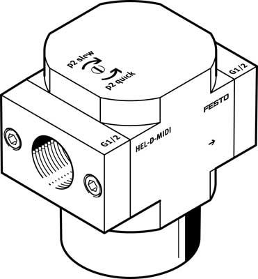Распределитель плавного пуска Festo HEL-3/8-D-MIDI-NPT
