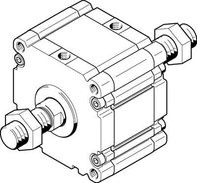 Компактный цилиндр Festo ADVU-125-A-P-A-S2