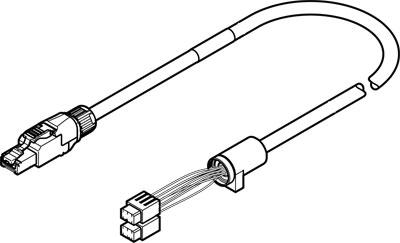 Кабель кодирующего устройства Festo NEBM-T1G8-E-15-N-R3G8