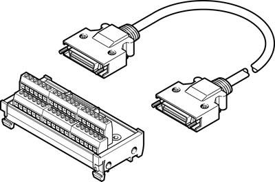 Линия управления Festo NEBC-S2G36-K-0.5-N-C2W36-S7