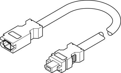 Кабель кодирующего устройства Festo NEBM-REG6-K-2.5-Q14N-REG6