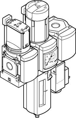 Блок подготовки воздуха, комбинация Festo MSB4N-1/4:C3J3F3-WP