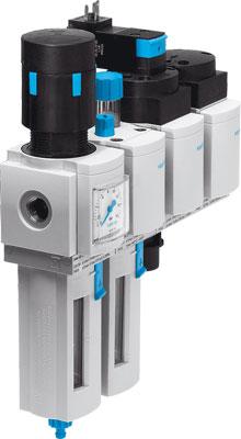 Блок подготовки воздуха, комбинация Festo MSB4N-1/4:J3M1D7A1-WP
