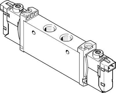 Распределитель с электроуправлением Festo VUVG-S14-B52-T-G18-1H2L-W1