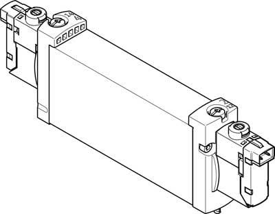 Распределитель с электроуправлением Festo VUVG-B18-B52-ZT-F-1H2L-W1