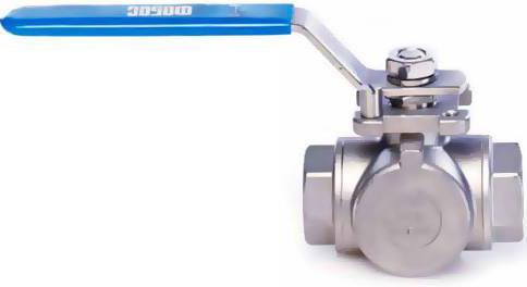 Кран шаровой трехходовой фланцевый из конструкционной стали Фобос ФБ39-140-050-000-03 PN25 DN50