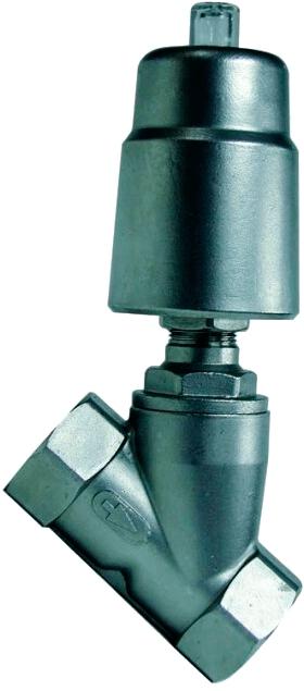 Угловой клапан с пневмоприводом с возвратной пружиной Genebre 5060N 09