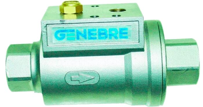 Пневматический клапан с осевой заслонкой, полнопроходный Genebre 5062 09