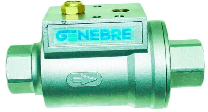 Пневматический клапан с осевой заслонкой, полнопроходный Genebre 5062N 09