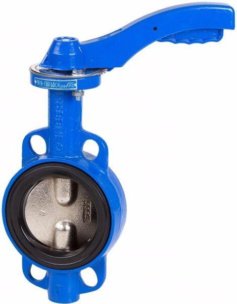 Затвор дисковый поворотный межфланцевый чугунный Genebre 2103-11 PN16 DN80