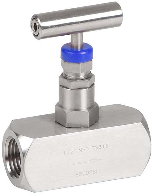 Клапан запорный игольчатый резьбовой из нержавеющей стали Genebre 2225-05 PN410 DN20