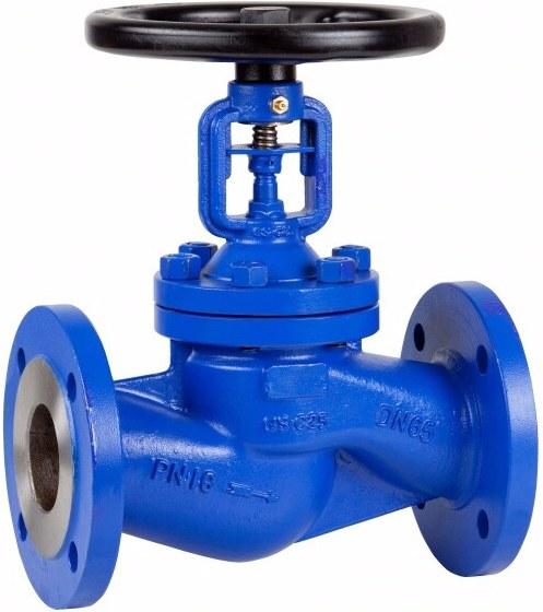 Клапан проходной фланцевый стальной Genebre 2231-04 PN16 DN15