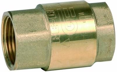 Клапан обратный резьбовой латунный Genebre 3121N-04 PN25 DN15