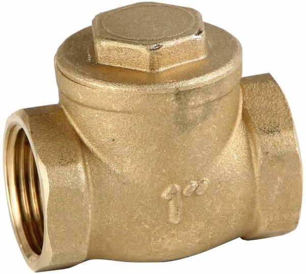 Клапан обратный резьбовой латунный GENEBRE 3185N-11 PN08 DN80