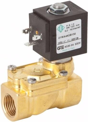 Соленоидный клапан непрямого действия GENEBRE 4020-06-A12V NC DN25 PN16