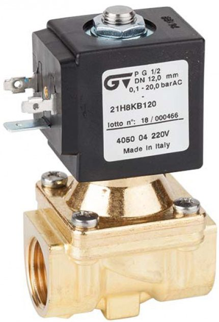 Соленоидный клапан непрямого действия GENEBRE 4050-03-A24V NC DN12 PN20