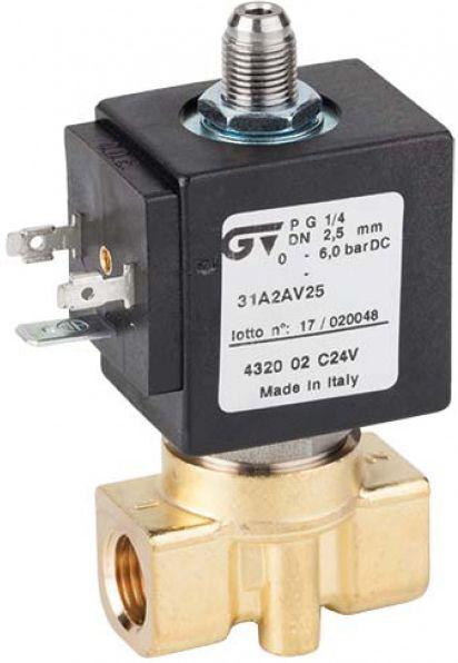 Соленоидный клапан прямого действия GENEBRE 4320-02-С24V NC DN2,5 PN6