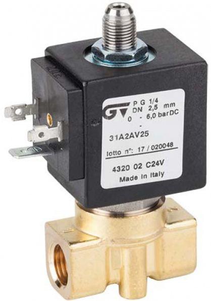 Соленоидный клапан прямого действия GENEBRE 4322-01-A24V NC DN2 PN10