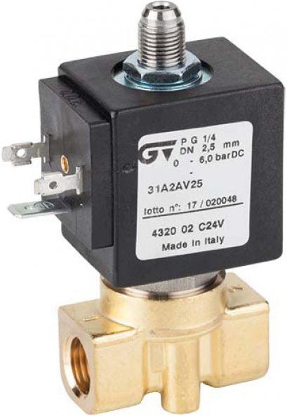 Соленоидный клапан прямого действия GENEBRE 4328-02-220V NC DN1,5 PN10