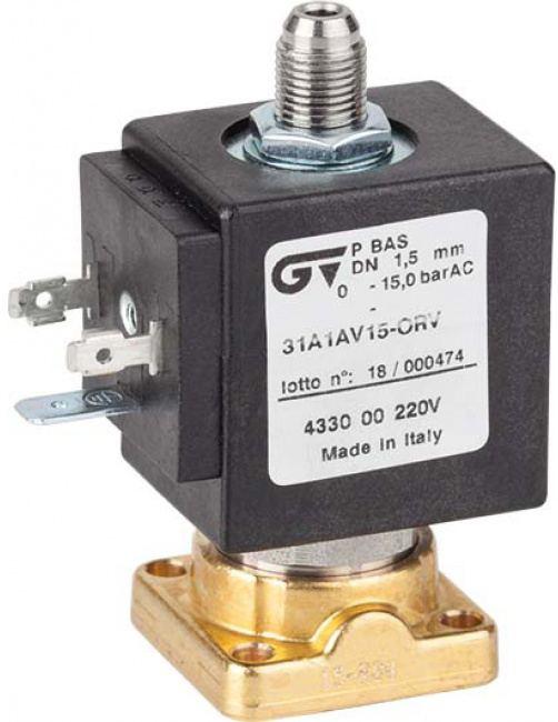 Соленоидный клапан прямого действия GENEBRE 4330-00-С24V NC DN1,5 PN15