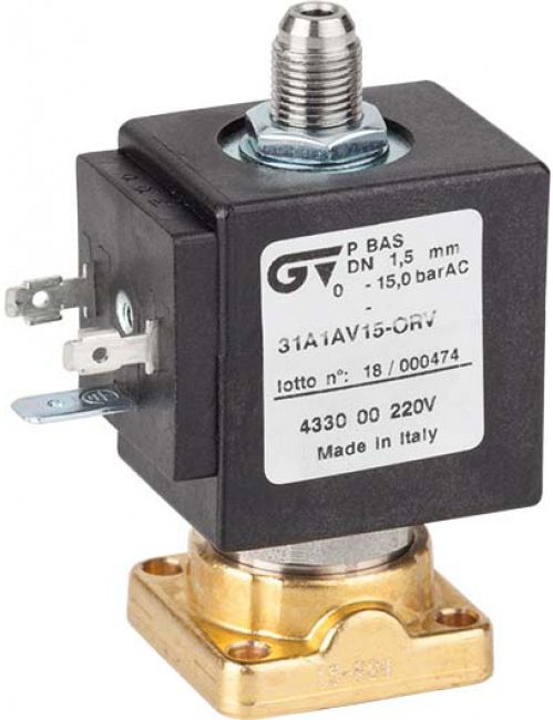 Соленоидный клапан прямого действия GENEBRE 4335-00-С24V NC DN1,5 PN15