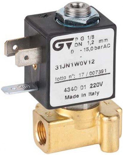 Соленоидный клапан прямого действия GENEBRE 4340-01-A24V NC DN1,2 PN15