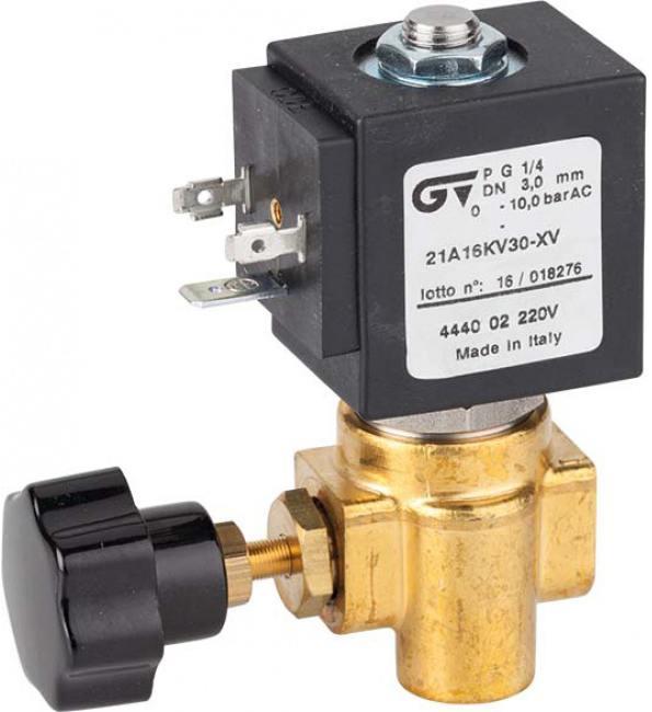 Соленоидный клапан прямого действия GENEBRE 4440-02-220V NC DN3 PN10