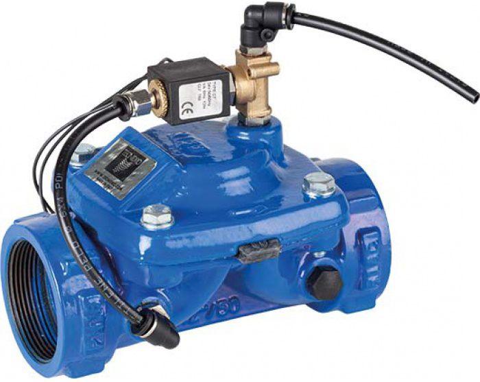 Гидравлический клапан с электромагнитным клапаном Genebre 4720-11 A24V NC DN80 PN10