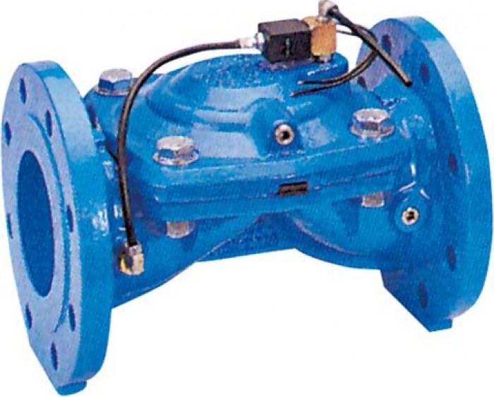 Гидравлический клапан с электромагнитным клапаном GENEBRE 4721-18 A24V NC DN250 PN10