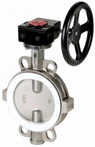 Затвор дисковый межфланцевый из нержавеющей стали Genebre 5104-12 PN10 DN 100