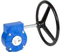 Редуктор механический к поворотному дисковому затвору чугунный Genebre 5975-80  DN80